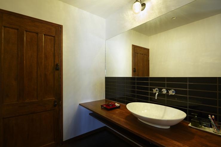 洗面とイギリス古建具